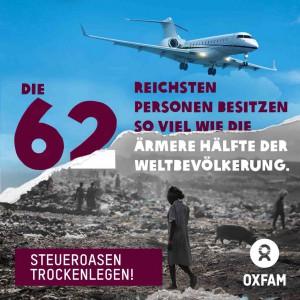 Oxfam Kampagne Steueroasen trockenlegen